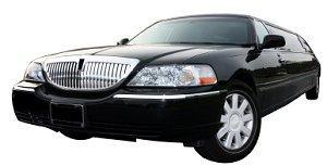 Classic black rental limousine