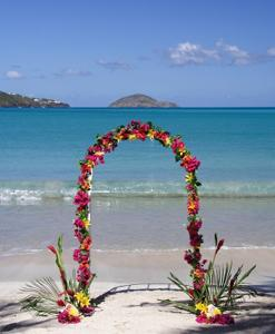 Wedding arch at an Orange County beach
