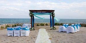 Location set up for a dreamy beach wedding