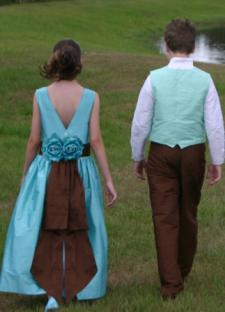 Tiffany Blue Dress/Boys Outfit © Pegeen Formal Wear for Children