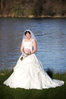 Bride in a Cinderella-style princess wedding gown