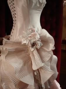 Photo of a couture wedding gown on a dress form