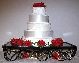 Black vine iron wedding cake stand