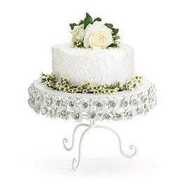 Intricate Victorian Rose Cake Stand