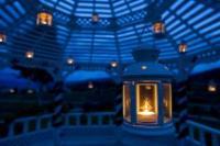 Gazebo wedding decorations lanterns create a soft glow junglespirit Image collections
