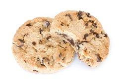 Image of two chocolate chip cookies