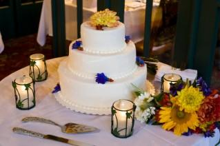 3-tier wedding cake made with Wilton products