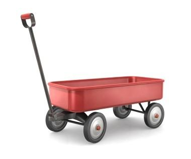 Image of a little red wagon