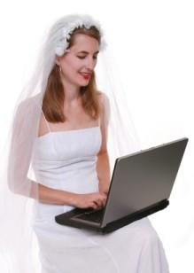 A bride searching for clipart online