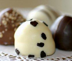 Chocolate truffles at a wedding reception