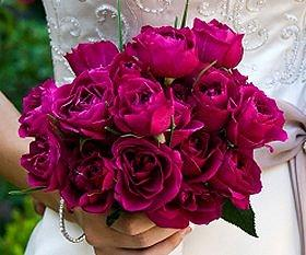 Roses are the most popular wedding flower