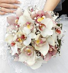 White phalaenopsis orchid bridal bouquet