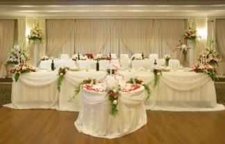 Decorated Head Table For Wedding Party