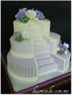 wedding cake stairs and bridge sets wedding cakes with fountains and stairs lovetoknow 25592