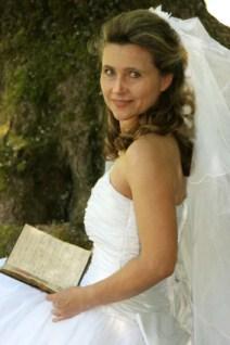 bride reading book