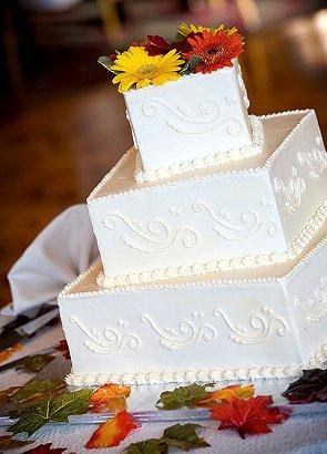 Gallery Of Fall Wedding Cakes Lovetoknow