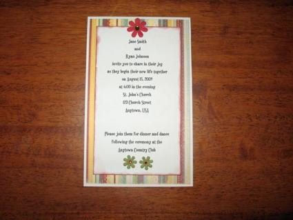 print your own wedding invitations make your own wedding invitations 6820