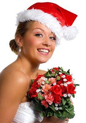 A Christmas Bride.Christmas Wedding Bridal Bouquets Lovetoknow