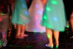 wedding dance with lighting effects