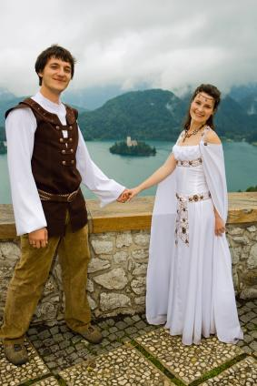 Medieval wedding dress lovetoknow for Medieval inspired wedding dresses