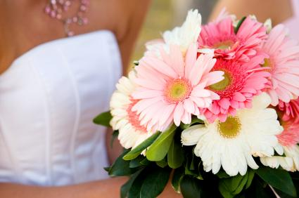 pink and white Gerbera bouquet