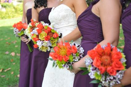Colors for august weddings grape and orange wedding junglespirit Choice Image