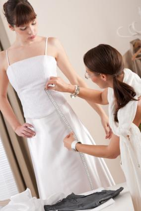 fitting wedding dress
