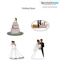 African American wedding clip art