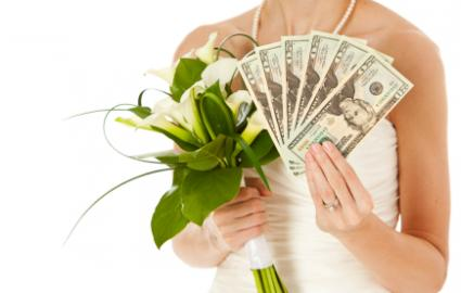 Flowers and money