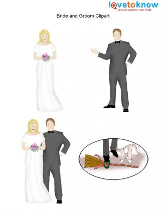 Download bride and groom clipart for your wedding.