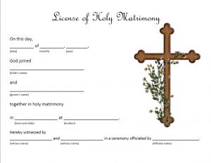 Christian Marriage License