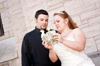 Sponsors help cover wedding costs.