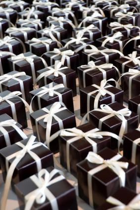 Truffle box wedding favors