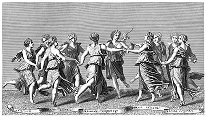 Celebrations during an ancient Greek wedding