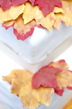 Fall leaf decorations on a wedding cake; © Christopher Howey | Dreamstime.com