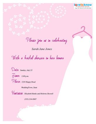 Wording for bridal shower invitations lovetoknow bridal shower invitation 1 thumb filmwisefo Images