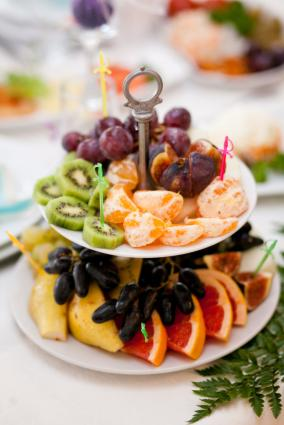 Fruit platter at wedding
