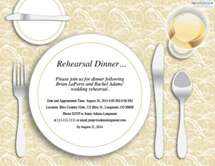 Wedding Rehearsal Dinner Invitations Lovetoknow
