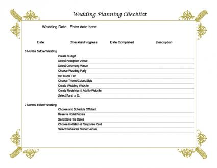 Wedding Planning Checklist  Lovetoknow