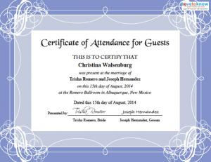 Wedding certificates for fun wedding guest certificate yadclub