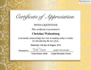Wedding certificates for fun special guest certificate yadclub Choice Image