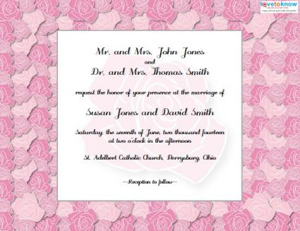 Free, Customizable Formal Wedding Invitation