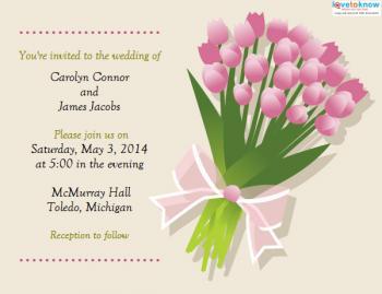 Free informal wedding invitation