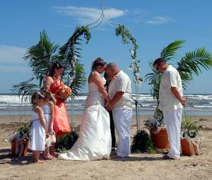 Freeport Texas Beach Wedding