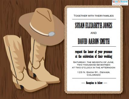 Western Wedding Invitations LoveToKnow - Wedding invitation templates: western wedding invitation templates