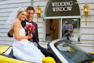 Couple at Wedding Window
