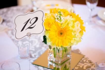 yellow bouquet centerpiece
