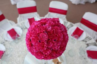 sphere of blooms centerpiece