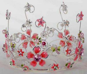Pink Floral Cake Crown