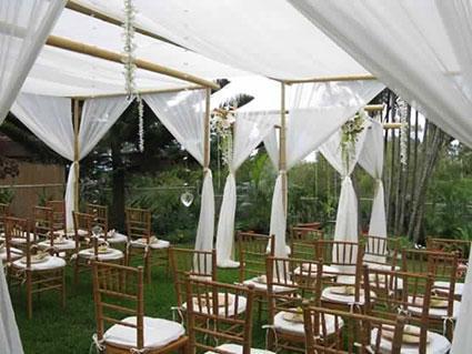 Canopy above ceremony seating